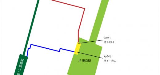 千代田線から東京駅の地下ルート