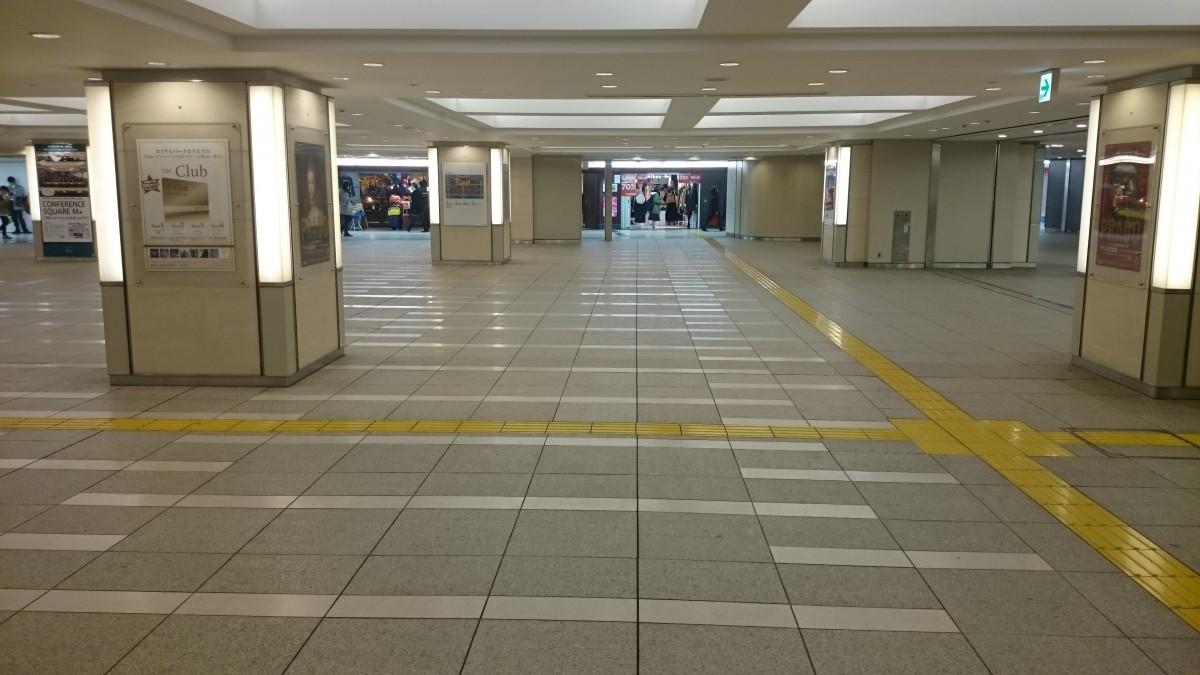 行幸地下通路を抜けて東京中央口:中央方面