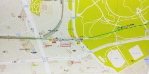 代々木公園駅のマップ