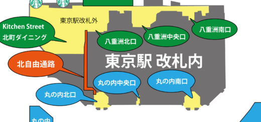 東京駅の北自由通路(八重洲丸の内)